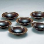 2006 飴油掛分組鉢(6枚)