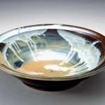 2005 ワラ白釉掛流大鉢  55×55×14