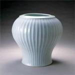2004 白磁鎬手大壺  38×38×37