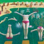 <プールサイド Pool side> 227.3×343.9cm