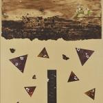 銅版・手彩色・箔ほか (85 x 60.5cm )