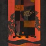 ステンシル(紙)・物体版プレス刷り ( 77 x 54cm )