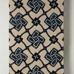 2011 藍染絞綿飾り布 324×112