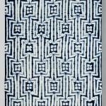 2012 藍染 綿 絞り布 370×103