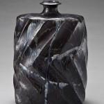 2010 呉須灰釉鎬扁壷 40.5×29×23.5