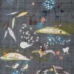 2003 型染帯地(部分) 38×500
