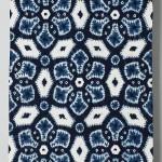 2010 藍染絞綿飾布 242×105