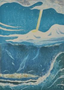 木版 ( 70 x 50cm )