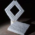 193×145×193cm 白御影石