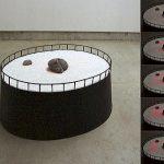 60×130×100cm 鉄、石、砂、LED、IC等