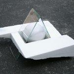 25×37×29cm 大理石、ガラス