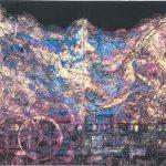 コラグラフ 津軽の夜祭り ( 79cm X 112cm)