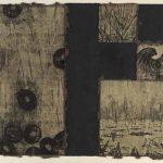 木版・銅版・落ち葉の紙に雁皮刷り( 90cm x 108cm)