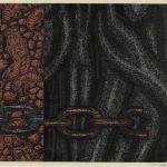 スチレンボード・リトグラフ(木版)( 76cm X 107cm )