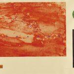 銅版・コラージュ ( 55cm X 75cm)
