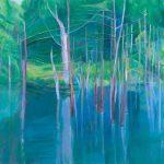 2016  水の中に立つ木 Ⅰ 130×162cm