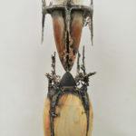 201×66×20cm ブロンズ、欅、杉