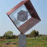 180×70×70 cm エキスパンドメタル、御影石