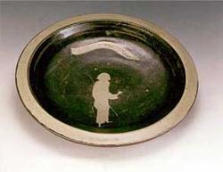 バーナード・リーチ 「皿」 4.2×31.2cm  1960製作  日本民芸館蔵