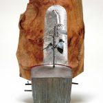 72×41×31cm ブロンズ、木