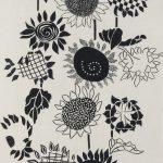 飯尾和子(染) 向日葵Ⅰ 108×156.5