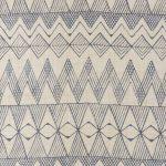 麻植博子(染) 幾何文様タペストリー42.5×284